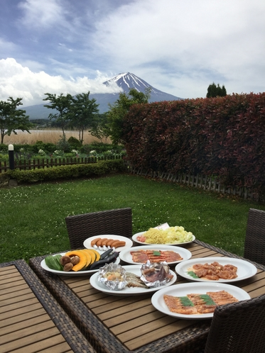 BBQと富士山