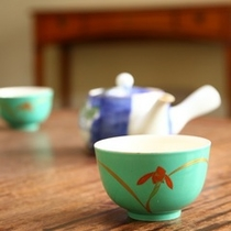 茶器も一部屋ごとに違います