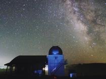 【ひろのまきば天文台】天文台に架かる天の川
