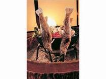 岩魚の塩焼きも人気メニューの一つ。