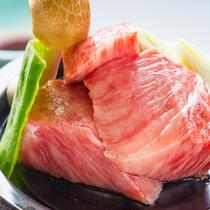 信州プレミアム牛肉の石焼き