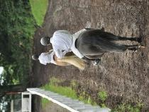 大自然の中で乗馬