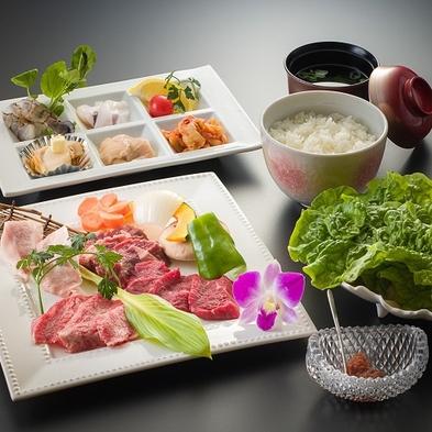 1泊2食付Aプラン(夕食:焼肉&海鮮セット&1ドリンク・朝食サービス・温泉入浴付)