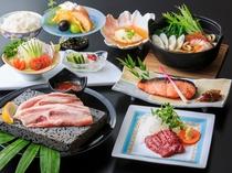 1泊2食付Cプランのご夕食「富士山麓おもてなし会席(イメージ)」