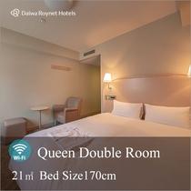 クィーンダブルルーム 客室面積:21㎡ ベッドサイズ 170㎝