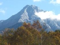 初雪の八ヶ岳