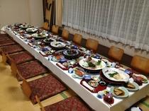 宴会場でのお食事