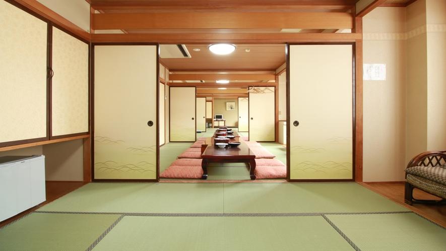 ■客室・4間続き_大人数が利用しやすい湯治の宿ならではの客室