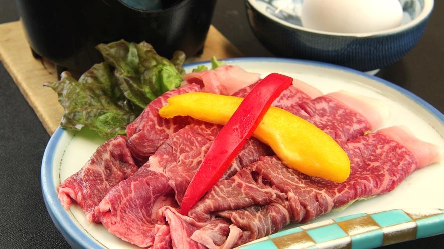 ■ご夕食一例・冬限定 すき焼き_福島ブランド「福島牛」を贅沢にすき焼きで。期間限定です!