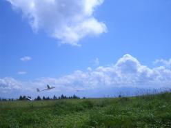 霧ケ峰高原ではグライダーが飛んでます。