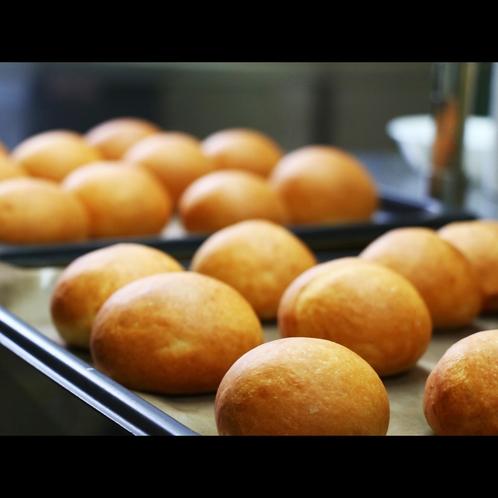 【朝食】おかわり自由な手づくりパン♪もちもちパン