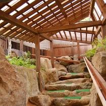 貸切露天風呂のまでの階段