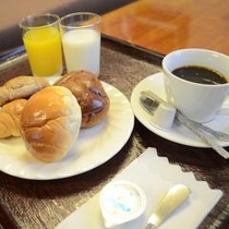 無料軽朝食