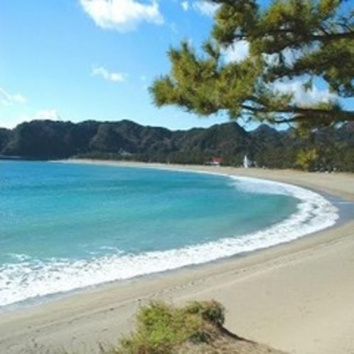 山海から一番近い車5分【弓ヶ浜海水浴場】日本の渚百選・伊豆三大美浜