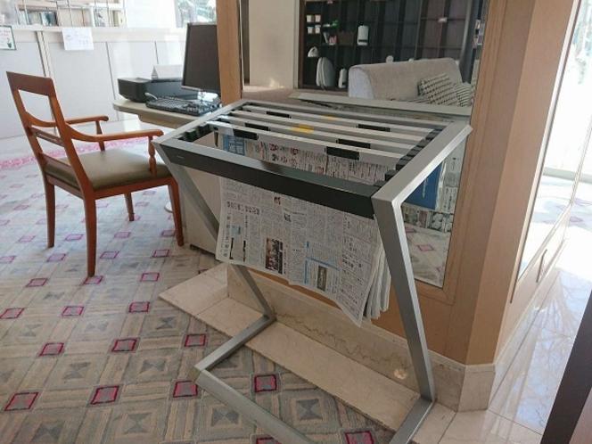 1階ロビーにて閲覧用の新聞をご用意しております。