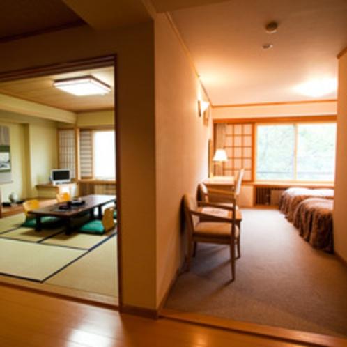 新和洋室(ベッド2つ+和室10畳)
