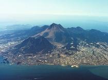 島原半島の空撮写真