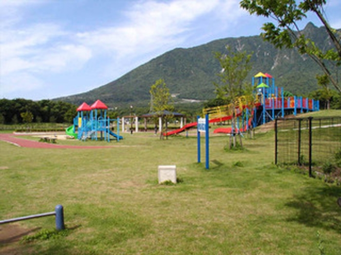 ひょうたん池公園 芝生の広場もあります