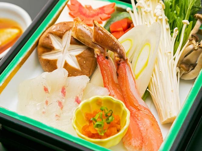 鯛と蟹のしゃぶしゃぶ【別注可/要予約】