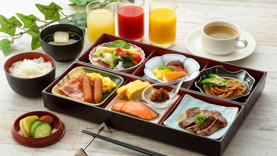朝食イメージ ※当面の間、ブッフェスタイルからお弁当形式へ変更致します。