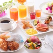 朝食盛り付け(イメージ)