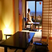 スタンダード露天風呂付客室の一例