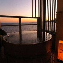 角部屋専用露天風呂付客室の一例
