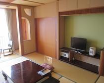 モダンデザイン客室の一例.