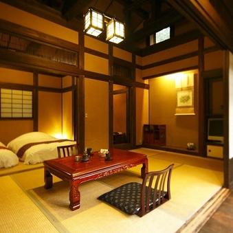 【離れ竹ぶえ】源泉掛け流し露天風呂付和室(居間+寝室)※禁煙