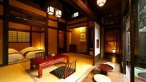 【離れ 竹ぶえ】古民家の設えが懐かしい宿。源泉掛け流しの露天風呂付き