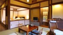 【旅籠 八幡野】帳場棟に併設され、お食事処、大浴場への移動がしやすいお部屋タイプです。