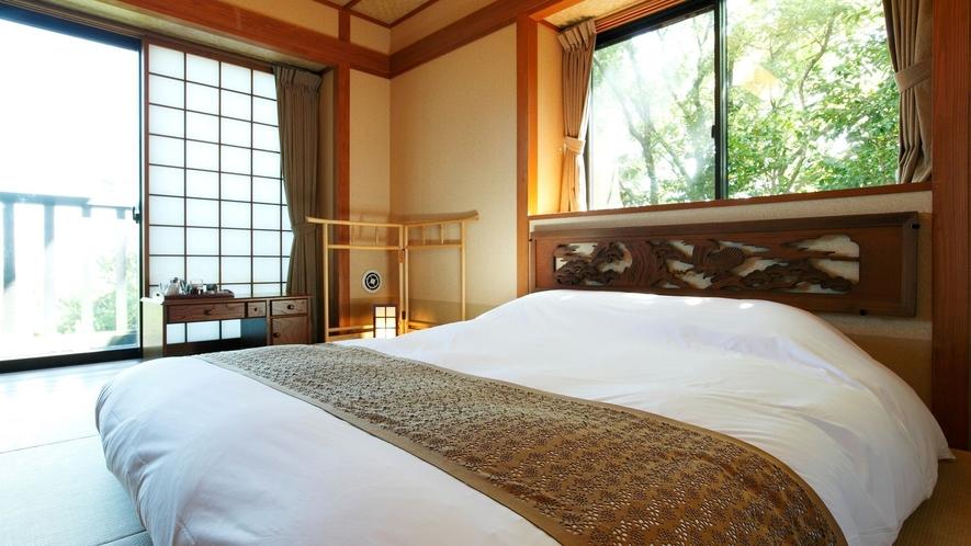 【個居 うみ蛍】ダブルベッド1台のコンパクトな造りの客室(写真は和室のイメージ)