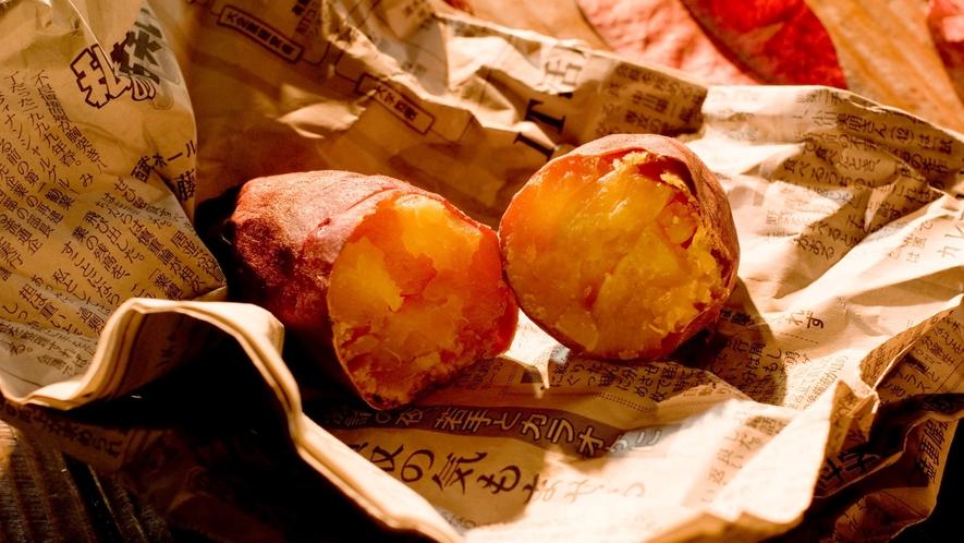 【無料サービス】11月~2月迄の週末(金~日)限定で焼き芋サービス※2020年度は中止