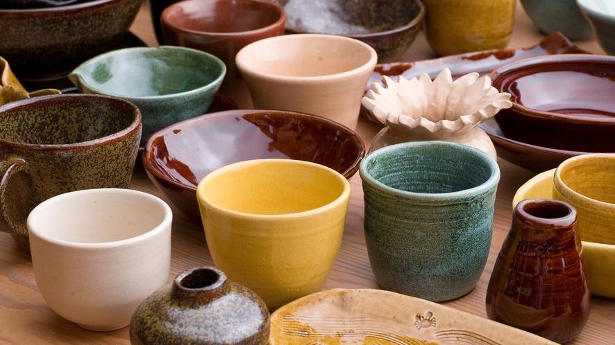 【陶芸工房】体験だけでなく、きらの里の陶芸家の作品も販売してますも販売してます