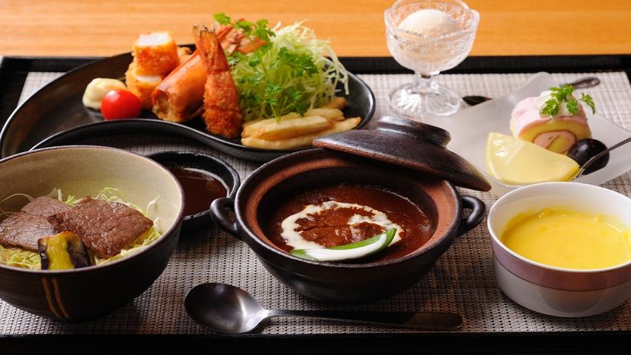 【選べるお子様食】洋食はお子様の大好きな海老フライやハンバーグ