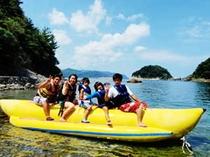 大人もお子さまも一緒に楽しめる!バナナボート