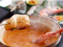 濃厚★うにエキスの鍋に『魚&地エビ』しゃぶしゃぶ!