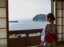 日本海見える和室