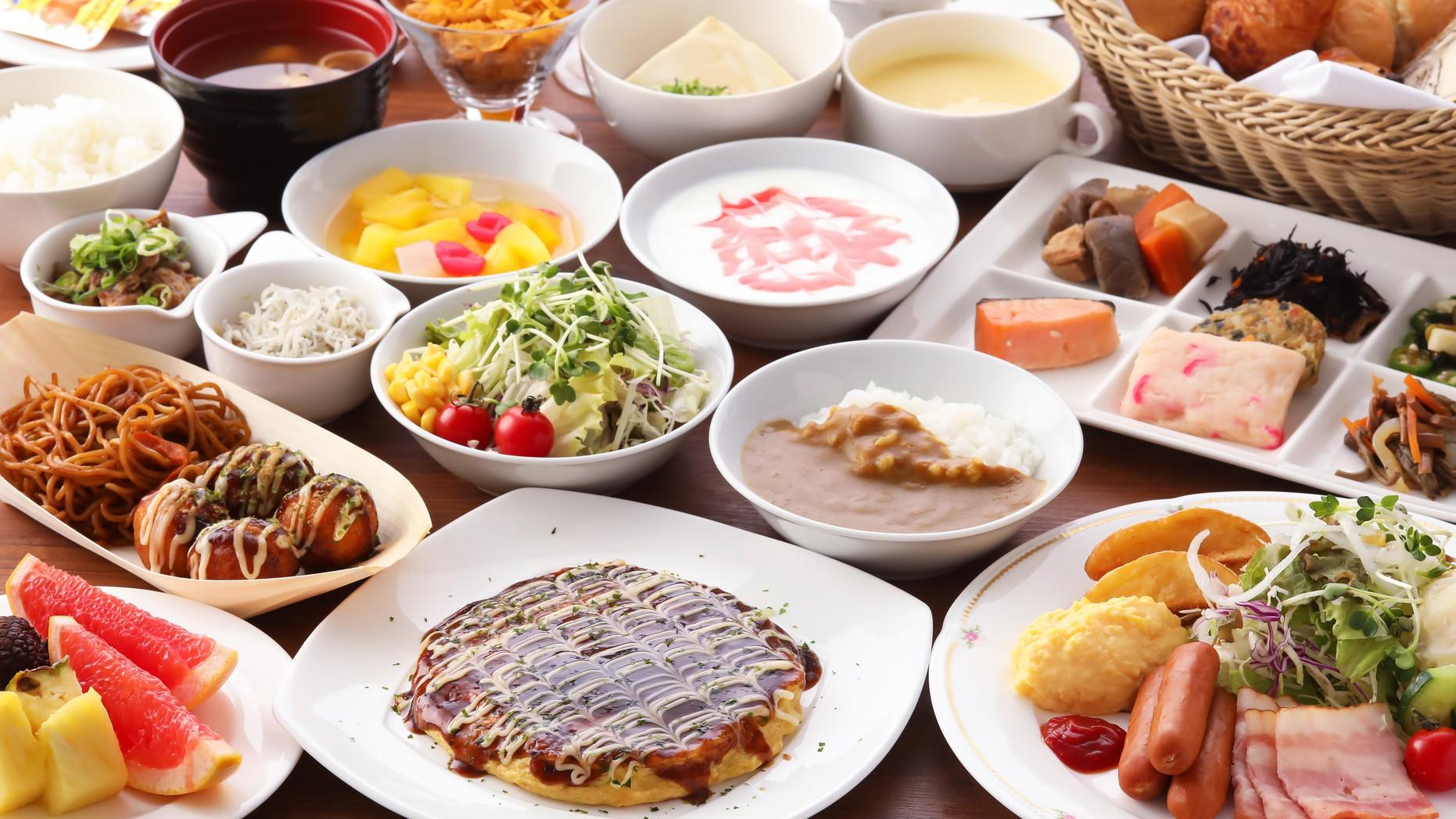 朝食バイキング(イメージ)※当面の間セットメニューへ変更致します。
