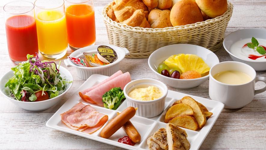 朝食イメージ(2021年5月より新メニュー予定)※朝食内容は予告なく変更致します。
