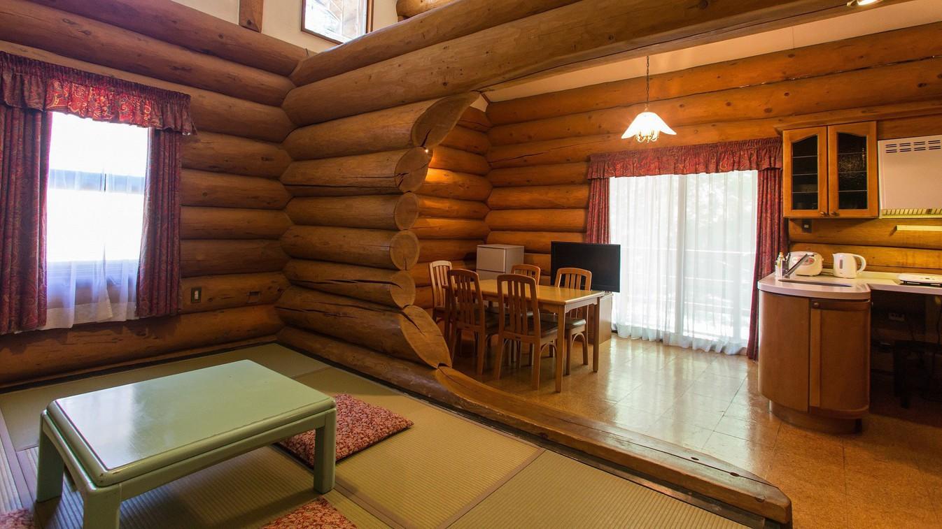 【ログハウスキッチン】各お部屋にキッチンを完備しています。(6108号室一例)
