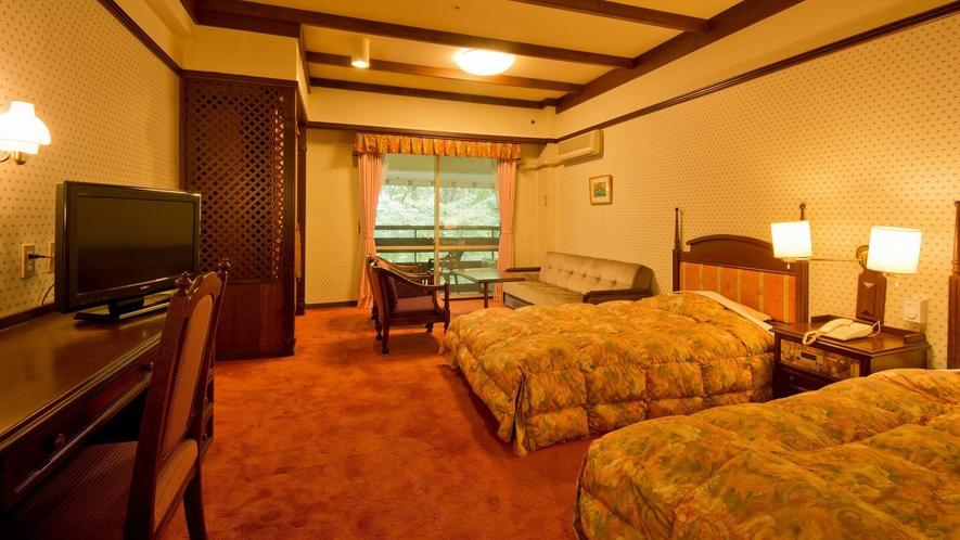 【お部屋】ベルツの森に囲まれたタワー館洋室タイプの一例(462号室・24平米)