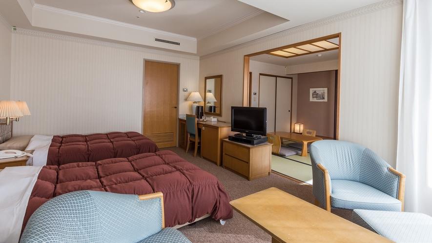 【ウイング館和洋室タイプ一例】2409号室和室部分・46平米