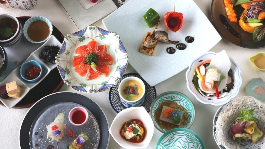 【和食】季節の野菜を楽しめるフルコース♪(写真はイメージです)