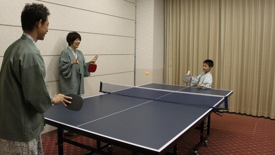 温泉に来たらやっぱりこれかな♪グループでも白熱「卓球」です。!