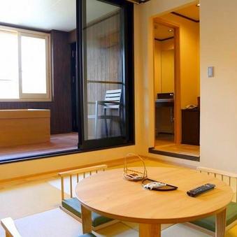 【禁煙】最上階リニューアル露天風呂付客室 ツイン+和室8畳