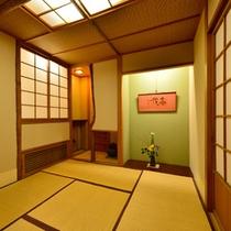 茶室・ギャラリー 二階には落ち着きのある茶室がございます。