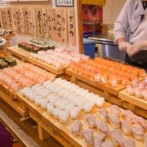 【夕食バイキング】お寿司のネタも新鮮&充実!