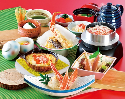 【かに料理満喫コース】【昼朝食付】ちょっと贅沢に『かに道楽』のかに会席ランチ付きプラン