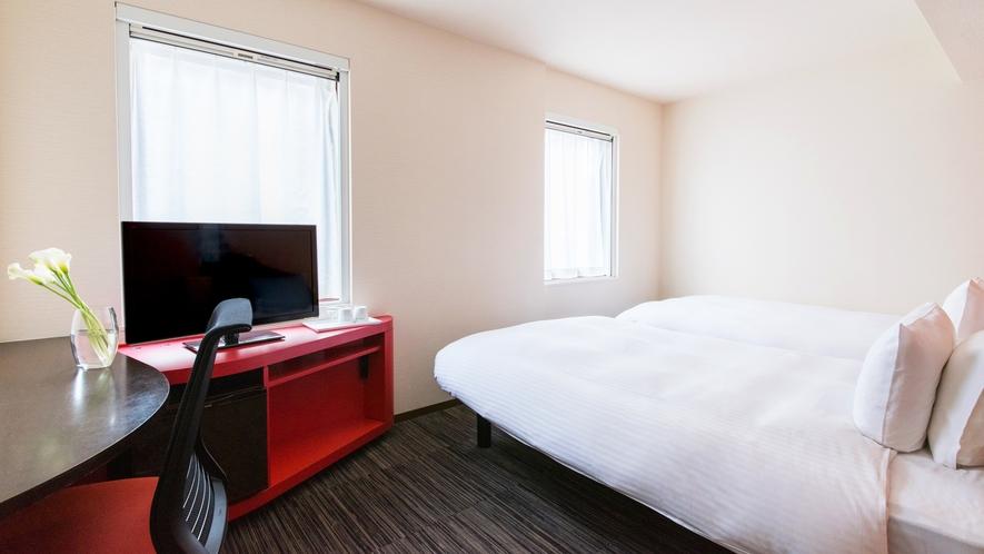 客室【スーペリアツイン】22平米 ベッド幅122cm 多機能シャワーブース